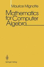Mathematics for Computer Algebra