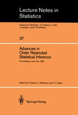 Advances in Order Restricted Statistical Inference