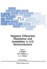 Negative Differential Resistance and Instabilities in 2-D Semiconductors