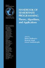 Handbook of Semidefinite Programming