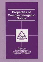 Properties of Complex Inorganic Solids