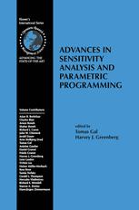 Advances in Sensitivity Analysis and Parametic Programming