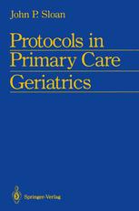 Protocols in Primary Care Geriatrics