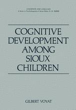 Cognitive Development among Sioux Children