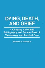 Dying, Death, and Grief