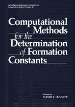 Computational Methods for the Determination of Formation Constants