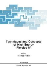 Techniques and Concepts of High-Energy Physics IV