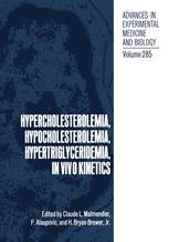 Hypercholesterolemia, Hypocholesterolemia, Hypertriglyceridemia, in Vivo Kinetics