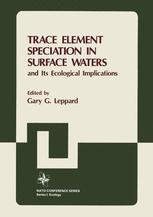 Trace Element Speciation in Surface Waters and Its Ecological Implications
