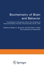 Biochemistry of Brain and Behavior
