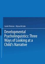 Developmental Psycholinguistics
