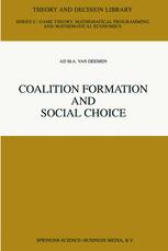 Coalition Formation and Social Choice