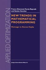 New Trends in Mathematical Programming