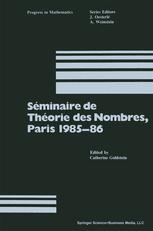 Séminaire de Théorie des Nombres, Paris 1985–86