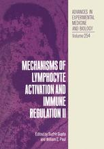 Mechanisms of Lymphocyte Activation and Immune Regulation II