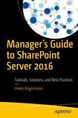 Manager's Guide to SharePoint Server 2016