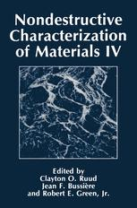 Nondestructive Characterization of Materials IV