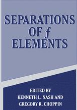 Separations of f Elements