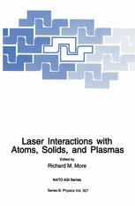 Laser Interactions with Atoms, Solids and Plasmas