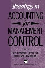 Readings in Accounting for Management Control