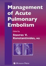 Management of Acute Pulmonary Embolism
