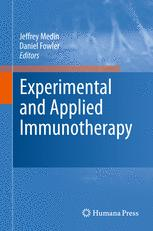 Experimental and Applied Immunotherapy