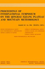 Proceedings of International Symposium on the Qinghai-Xizang Plateau and Mountain Meteorology