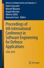 Proceedings of 6th International Conference in Software Engineering for Defence Applications