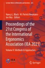 国际人体工程学协会第21大会的诉讼程序(IEA 2021)