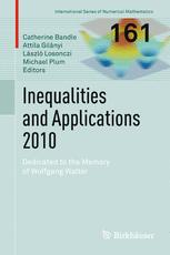 Inequalities and Applications 2010
