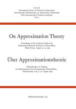 On Approximation Theory / Über Approximationstheorie