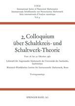 2. Colloquium Über Schaltkreis- und Schaltwerk-Theorie