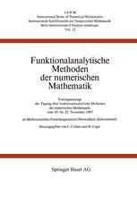 Funktionalanalytische Methoden der numerischen Mathematik