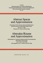 Abstract Spaces and Approximation / Abstrakte Räume und Approximation