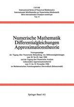Numerische Mathematik Differentialgleichungen Approximationstheorie