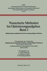 Numerische Methoden bei Optimierungsaufgaben Band 3