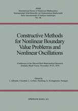 Constructive Methods for Nonlinear Boundary Value Problems and Nonlinear Oscillations