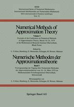 Numerische Methoden der Approximationstheorie / Numerical Methods of Approximation Theory
