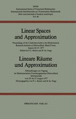 Linear Spaces and Approximation / Lineare Räume und Approximation