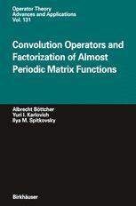 Convolution Operators and Factorization of Almost Periodic Matrix Functions