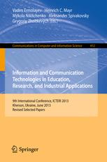 Information and Communication Technologies in Education, Research, and Industrial Applications