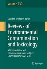 Reviews of Environmental Contamination and Toxicology volume
