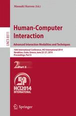 Human-Computer Interaction. Advanced Interaction Modalities and Techniques
