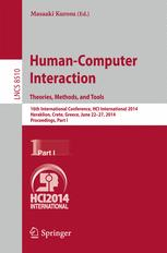 Human-Computer Interaction. Theories, Methods, and Tools