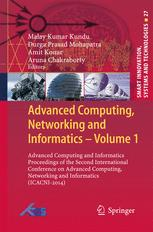 Advanced Computing, Networking and Informatics- Volume 1