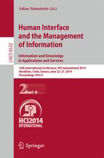 Human Interface and the Management of Information. Information and Knowledge in Applications and Services