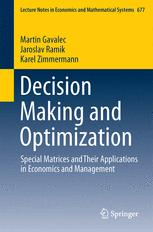 Decision Making and Optimization