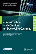e-Infrastructure and e-Services for Developing Countries