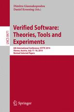 Verified Software: Theories, Tools and Experiments