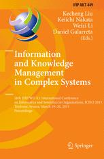 Information and Knowledge Management in Complex Systems